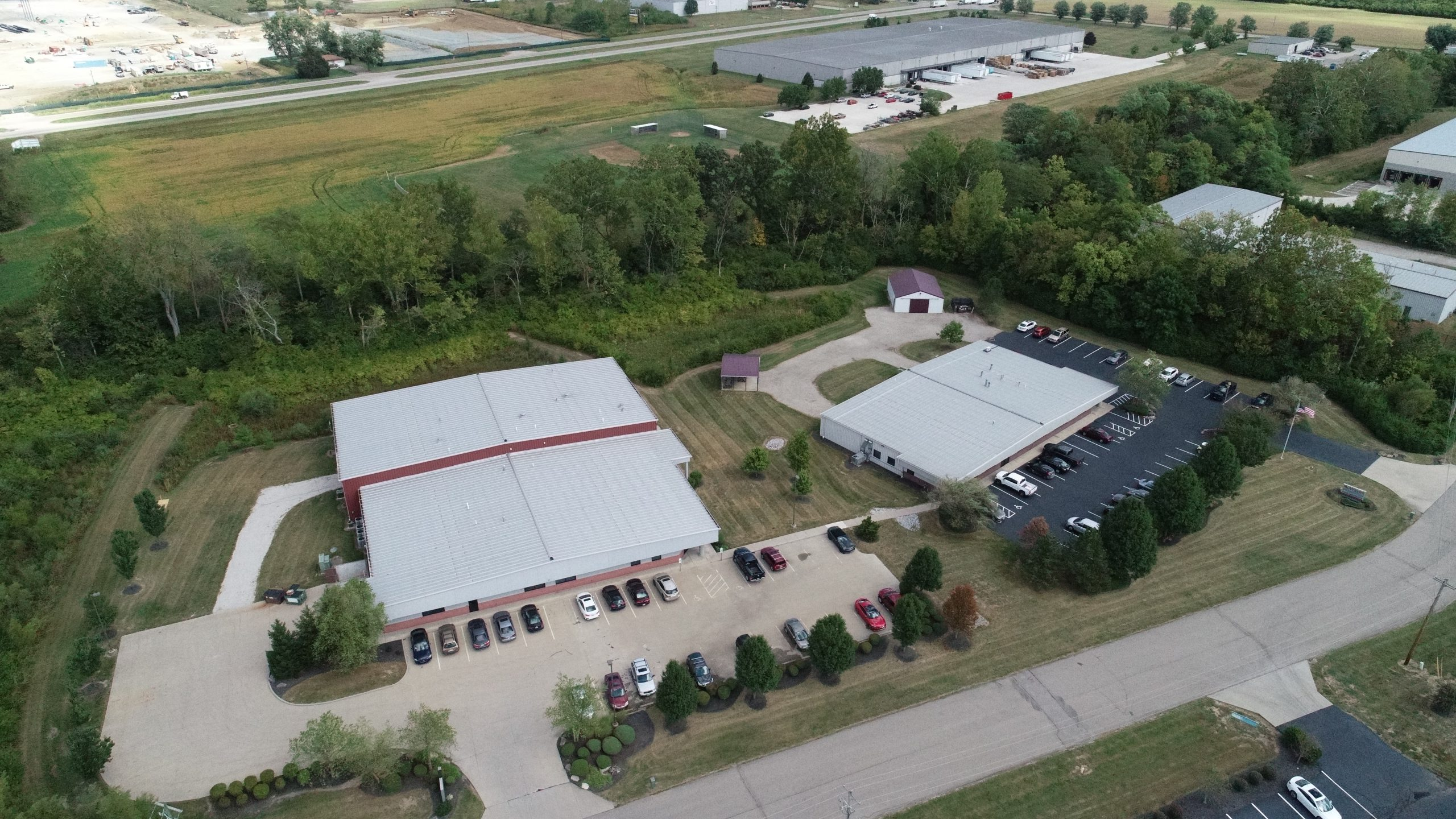 A drone view of NuWaves' facilities