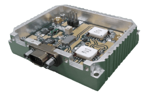 NuWaves miniature C-band Power Amplifier implemented with 2 custom MMICs